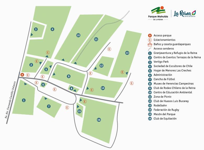 Mapa Parque Mahuida