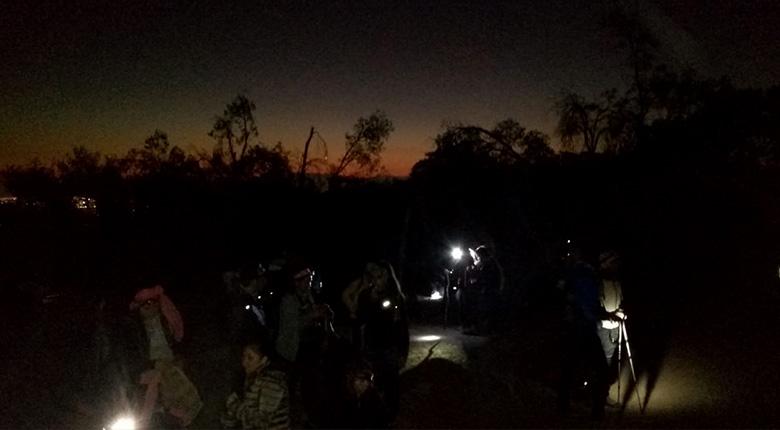 Trekking Nocturno en Parque Mahuida (21 de mayo 2019)