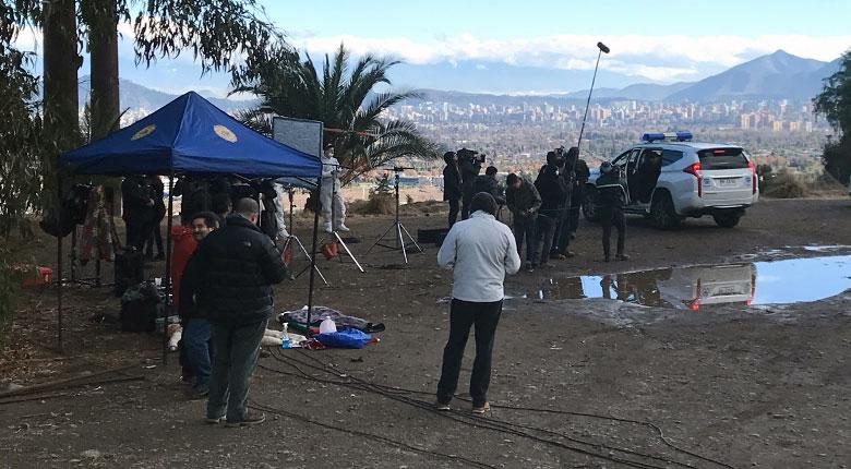 """Mega graba escenas para la Teleserie """"Juegos de Poder"""" en Mahuida (14 de junio 2019)"""